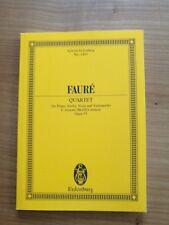 Noten. Faure. Klavier-Quartett c-Moll op. 15. Taschenpartitur.