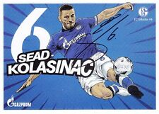 Sead Kolasinac + FC Schalke 04 + Saison 2016/2017 + Original Autogrammkarte