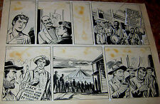 1960 JOSE SALOMON ORIGINAL ART PAGE WESTERN COMIC ED LAINEZ ARGENTINA