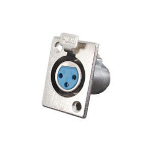 XLR Einbaubuchse 3-polig Metall mit Verriegelung