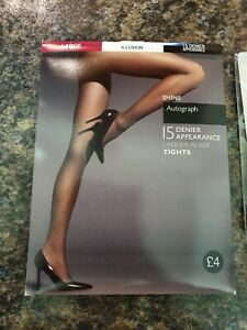 Brand New In Package, M&S 15 Denier Illusion Tights - Size Large