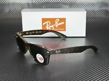 RAY BAN RB2132 902 58 New Wayfarer Tortoise Grn Polarized 55mm Men's Sunglasses