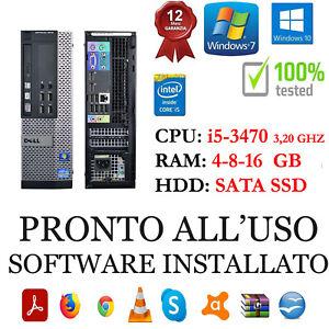 COMPUTER DELL 7010 I5-3470 3,2GHZ RAM 4-8-16GB HDD SATA O SSD USB 3.0 GAR 1 ANNO