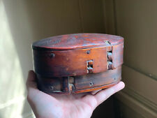 Rare 18th century Norwegian tine / Scandinavian bentwood / Swedish svepask box