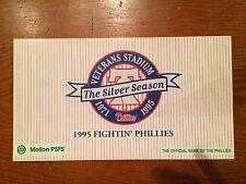 PHILADELPHIA PHILLIES 1995 TEAM CARD SET VETERANS STADIUM SGA