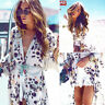 Women Fashion Boho Chiffon Kimono Shirt Cardigan Long Beach Cover Up Tops Blouse