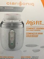 New Clarisonic Mia FIT 2 Speed Sonic Facial Cleansing Brush System-WHITE