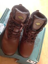 Mens/ladies Leather Size 6 Brown Hiking Boots, New Shop Clearance
