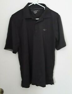 GREG NORMAN men size S solid gray play dry short sleeve polo golf shirt