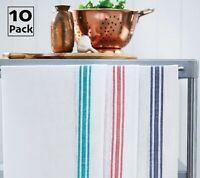 10 Pack Professional Catering Glass Cloths Cotton Tea Towels Kitchen Restaurant