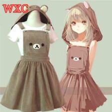 Bear Rilakkuma Straps Dress Lolita Braces Mori Girl Kawaii Dress School Clothes