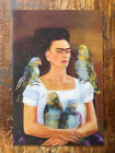 Vtg 2008 Frida Kahlo Sf Moma Exhibit Rare Lenticular Me And My Parrots Postcard!