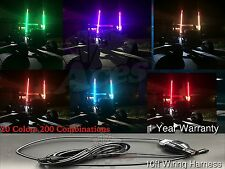 20 Color 200 Combination 5 ft RZR Turbo 1000 LED Lighted Whip-Remote Controlled