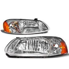 For 2001-2006 Stratus Sedan Sebring Convertible Headlight Headlamp Chrome Amber