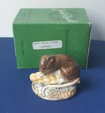 More details for rare boxed beswick w3399 wood mouse eating ear of wheat  - late production