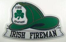 Reflective fireman Sticker Irish Fireman