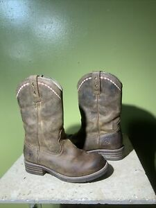 Ariat 10015374 Unbridled Roper WOMEN 6.5 Cowgirl Riding Wellington Boots Brown