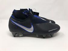 Nike Phantom Vsn Elite DF SG Pro AC Black/blue Soccer Cleat AO3264-005 Size 6.5