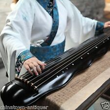 "48"" Professional Guqin Chinese 7-stringed zither instrument Plantain-leaf #4055"