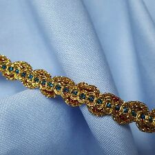Gold Red Blue Gimp Braid Trim Tape Upholstery Costume Embellishment TR0057