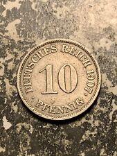 1907-J Germany 10 Pfennig  Lot#Q9309
