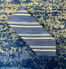 Brooks Brothers Blue Off White Bias Stripes 100% Italian Silk Necktie Made in US