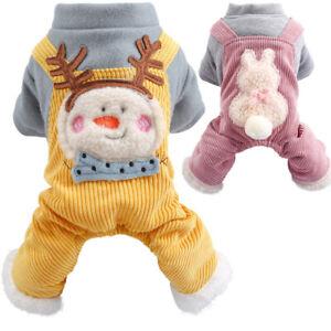Pet Dog Winter Clothes Puppy Cat Doggie Warm Jumpsuit Small Medium Dogs Apparel