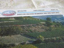 Alpenbahnen Westalpen K 18 Simplonbahn Sion Walliser Weinberge Brig