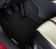 MAZDA 2 DJ FLOOR MATS RED STITCHING LUXURY BRAND NEW GENUINE PART