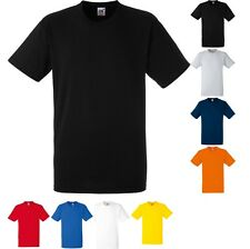 Mens Fruit of the Loom Heavy Weight Cotton Short Sleeve Plain T Shirt Top