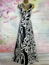STAR BY JULIEN MACDONALD stretchy BLACK/WHITE maxi full length dress Size 18