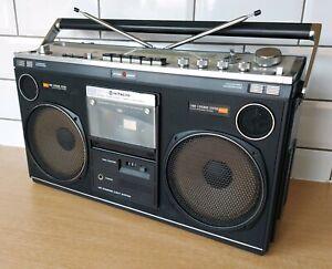 Hitachi Portable Stereo Radio Cassette Player TRK-8080E, Ghetto Blaster 80s 70s
