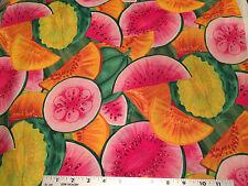 Timeless Treasures OOP Patrick Pat Lose Patt#C5314 Brights tossed melons