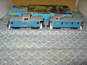 HO SCALE ATHEARN PAIR OF 2 CENTRAL UNION CABOOSES! ONLY 30.00!