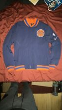 NIKE NEW YORK KNICKS CITY EDITION COURTSIDE FULL ZIP BOMBER JACKET Size Small