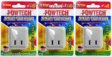 3X Single Outlet AC Wall Plug On/Off LIGHTED POWER SWITCH Electrical Adapter