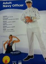 "Adult Navy Officer Standard 38-42"" Chest Fancy Dress Costume Mens Outfit"