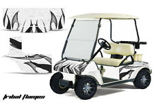Club Car Golf Cart Graphic Kit Wrap Parts AMR Racing Decal 1983-2014 TRIBAL BLK