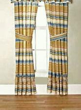 "SEA SHELL TROPICAL COASTAL Beige STRIPES WINDOW Treatment 84""x 84""Curtain/DRAPES"