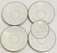 "Set Of 4 Vintage Sango China 6"" Saucers ""Florence"" Pattern 3646 Made In Japan"
