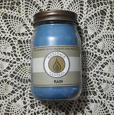 JAR CANDLE...HERITAGE CANDLES BRAND.. ...Rain....Highly Scented..16 Ounce..