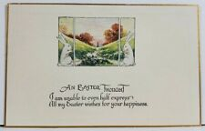 An Easter Thought Sweet Bunny Rabbits Postcard L20