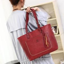 Women's Fashion PU Leather Handbags Tote Shoulder Bag Messenger Crossbody Purse