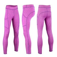 Women Yoga Pants Ladies Fitness Leggings Run Gym Exercise Sports Trouser 10-18