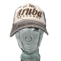 Aruba Island Baseball Cap Hat Est 1499 Cotton Blue OSFM Strap Back