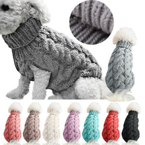 Fashion Puppy Dog Jumper Winter Dogs Coat Warm Knitted Sweater Pet Clothes cute