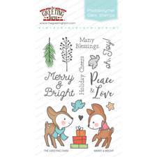 Merry & Bright-The Greeting Farm Clear Stamp-Stamping Craft-Christmas-Deers