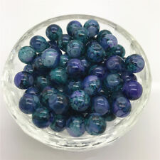 New Hot 6mm 50 Pcs Round Pearl Loose Beads Double Colors Glass Jewelry Making#11