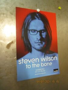 STEVEN WILSON To The Bone '17 PROMO POSTER Caroline International PORCUPINE TREE