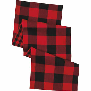 Red And Black Buffalo Check Table Runner